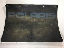 POLARIS 1980's SNOWMOBILE SNOW FLAP USED BLUE LETTERING RUBBER 5 HOLE
