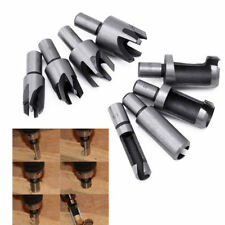 "8Pcs Carbon Steel Wood Hole Cutter Drill Bit Tool Kit 10mm  5/8"" 1/2"" 3/8"" 1/4"""