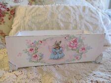 Shabby Chic Hand Painted Roses - Bunny Angel Box
