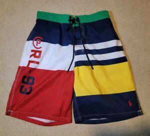 Polo Ralph Lauren Men's Multicolor Yacht CP-93 Board Swim Shorts Trunk size SP