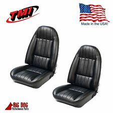 Front Buckets + Rear Seat Upholstery 1971 - 1976 Chevy Camaro Black Made in USA