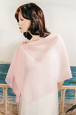 Long Sheer Chiffon Plain Shawl Wrap Scarf Hijab Solid Colors Evening - W178