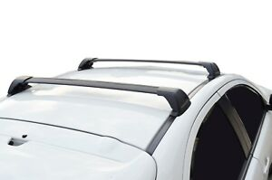 Aerodynamic Roof Rack Cross Bar for Mercedes-Benz C Class  Black 14-18 Flush End