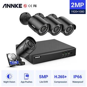 ANNKE 5MP Lite 8+2CH DVR 4X3000TVL Outdoor CCTV Camera Home Security System 1TB