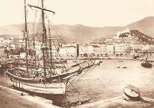 G0019 Sanremo - Panorama della città vecchia - Stampa antica 1923 - Old Print