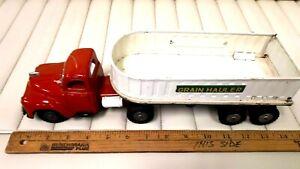 1950's SSS  Grain Hauler- Friction Motor - Cab & Trailer -Very Good Cond (Japan)