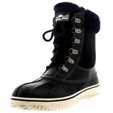 Womens Polar Real Australian Sheepskin Cuff Winter Snow Mid Calf Boots UK 3-10