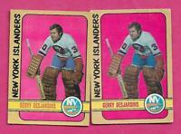 2 X 1972-73 OPC # 119 ISLANDERS GERRY DESJARDINS GOALIE CARD (INV# C4000)