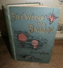 1875 FIVE WEEKS IN A BALLOON EXPLORATION CENTRAL AFRICA BY JULES VERNE 33 PLTS *
