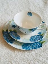 New Bone China Tea Cup Set Hydrangea Floral Easy Life Design Boxed Gift