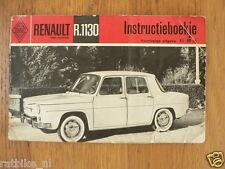 RENAULT R.1130 INSTRUCTIE BOEKJE OWNERS MANUAL,INSTRUCTION BOOK