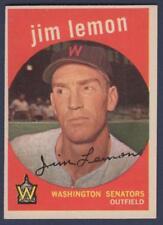 1959 TOPPS  #215    JIM LEMON   WASHINGTON SENATORS    EX-MT+ to NM