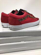 VANS Old Skool*Suede Canvas Skate Shoes*Port Royale RED*Mens Size 12 M