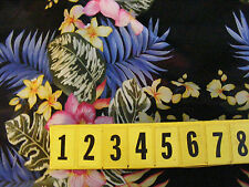 Lightweight Polyester Georgette  Fabric - Bright Floral 145cm Wide - New by Dcf