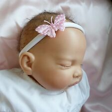 baby headband hairband white band pink butterfly one size fits all