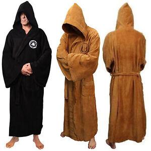 Men star war Bath Robe Jedi Sith Hooded Bathrobe Cloak Soft Fleece Dressing-Gown