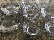 New listing Rodeo Brand Cowboy Pattern Small Bowl (6) And Saucer (7) Appetizer Pieces