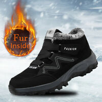 Winter Snow Hiking Boots Warm Fur Inside Work Shoes Outdoor Sports Waterproof