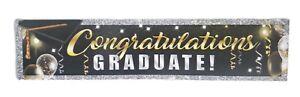 "Graduation 6' Foil Banner Hanging Decoration ""Congratulations Graduate"""