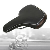 Velo Plush Hybrid Bicycle PU Leather Seat Steel Rail Comfort Bike Gel Saddle