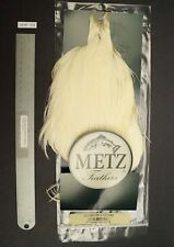 Metz #3 Cream White Rooster Neck Dry Fly Rooster Neck Fly Tying Cape Lot 176