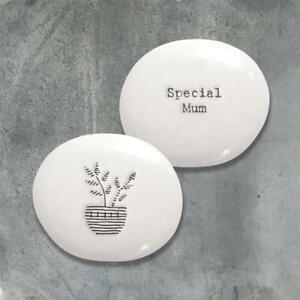 Special Mum Pebble - White Porcelain Mini Keepsake Token Gift - East Of India