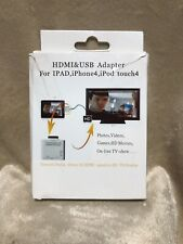 HDMI & USB Adapter for iPhone 4/iPad 2/iPod Touch 4G -iPad to HDMI/USB