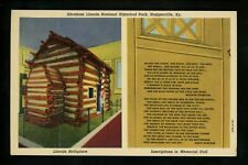 Political President postcard Abraham Lincoln Park Hodgenville Kentucky KY linen