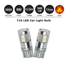 2x 3030 LED T10 W5W 12V-24V Wedge Light Bulb Amber Orange Tail Parker Plate Lamp