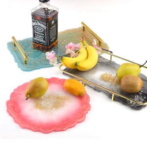 Fruit Tray Mould DIY Dish Snacks Dish Crystal Epoxy Mold Irregular Crystal Resin