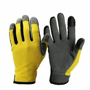 Leather Sports Gloves Touch Screen Men Motorcycle Racing Cycling Hand Protection
