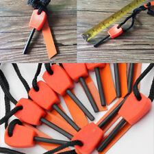 10 PCS for Outdoor Emergency Flint Fire Starter ferro Rod Magnesium tool kits
