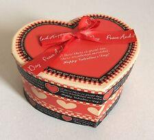 TENG XIN CRAFT Heart Shaped BOX LOVE Valentines Cardboard Gift Wrap Home Decor