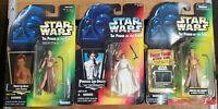 STAR WARS 1997 POTF Slave Leia Freeze Frame & Regular + '95 Princess Leia figure