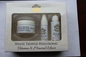 Cougar White Truffle Hyaluronic Gift Set Facial Oil Eye Serum Day & Night Cream