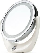 BROADCARE Makeup Mirror LED Lighted 1X/ 5X Double Sided Magnification USB With