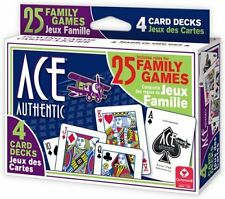 Ace Family Games with Instructions (4-Pack) by Cartamundi New Playing Cards