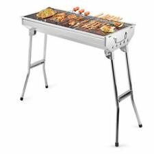 Folding BBQ Charcoal Barbecue Portable Grill Steel Stainless Garden Picnic Stove