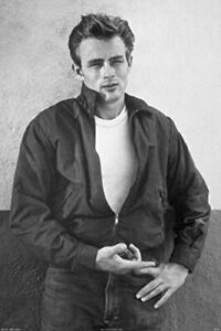James Dean Black and White 24x36 Poster