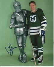 VINTAGE DOUG JARVIS SIGNED HARTFORD WHALERS 8x10 PHOTO #3 NHL IRONMAN Autograph