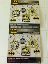 2 New Dc Comics Batman Swirl Decorations Birthday Party Supplies 12 Pieces Each