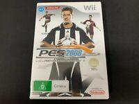Pro Evolution Soccer 2008 Nintendo Wii Game *Complete* (PAL)