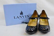 Lanvin River 2007 Ballerinas Bride Velvet Lamb Heel Ballet Black Shoe UK 6.5