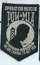 Pow Mia Operation Rescue patch we ar coming to get you 4-1/8 X 2-3/4 #2043