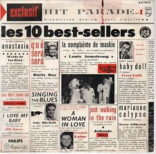 """Hit Parade N°2- Various - Les 10 Best-Sellers USA- Philips- B07.814R-10""""- France"""