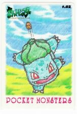BANDAI Japanese Pokémon CARDDAS Sticker 1998! *Bulbasaur*!