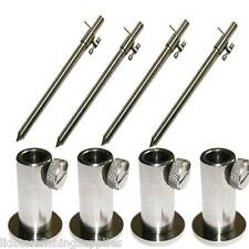 4 x Stage Stands + 4 x 30-50cm Stainless Steel Banksticks Platform Carp Fishing