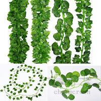 2.1M Artificial Ivy Leaf Vine Plant Garland Fake Foliage Green Wedding Party DIY