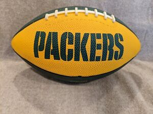 1980s Vtg GREEN BAY PACKERS Wilson Players Signed Autographed Football Yellow 89