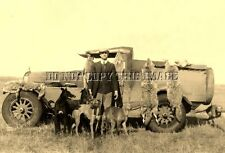 ANTIQUE REPRO NEBRASKA COYOTE HUNTING PHOTO > DOGS LURCHERS HOUNDS